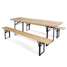 Set Birreria in legno richiudibile 220x70xh76cm tavolo 2 panche picnic 45140