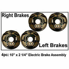 "4pc Electric Trailer Brake 10"" x 2.25"" Assembly Right & Left SIde 3500 lb axles"