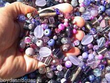 NEW 8/oz Premium Hues of PURPLE'S 6-15mm Assorted MIXED LOOSE Beads Lot
