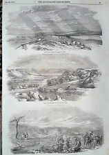 1854 PRINT MILITARY SCENES FROM VARNA,BULGARIA
