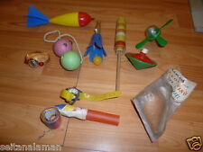 AMAZING VINTAGE RARE GREEK LOT PLASTIC  PENNY TOYS FROM 60s - 70s