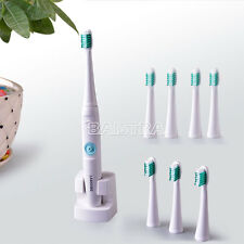 Uk 1 Kit Rechargable Battery Sonic Ultrasonic Electric Toothbrush+8 brush heads