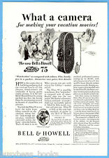 1928 BELL & HOWELL advertisement, FILMO Movie Camera, model 75