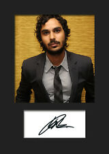 TBBT KUNAL NAYYAR #1 A5 Signed Mounted Photo Print (RePrint) - FREE DELIVERY