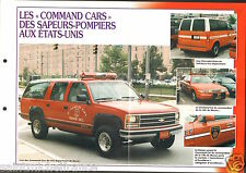Fire engine Truck Command Cars Fire Department USA FICHE Pompier FIREFIGHTER