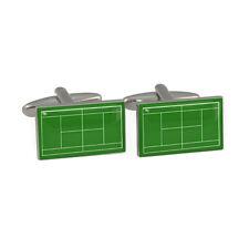 Tennis Court Cufflinks Gift Boxed green itf wimbledon grand slam open BNIB