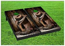Vinyl Wraps COUNTRY WESTERN Cornhole Board Game DECALS Cowboy Ranch Rodeo S197