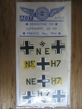 1/72 ABT DECAL N°123 DEWOITINE 520 LUFTWAFFE JG 101 FRANCE 1944