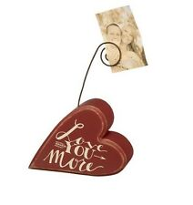 LOVE YOU MORE Wire Desk Photo Frame Picture Memo Card Holder RED VALENTINE