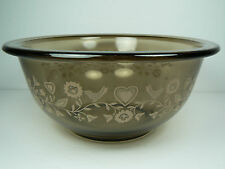VINTAGE PYREX SMOKED FESTIVE HARVEST 322 1L GLASS NESTING MIXING BOWL USA