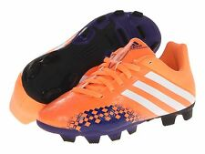 New adidas Kids Predito Shoes Sneakers Cleats Soccer Orange Girl Boy 4 Youth