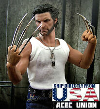 1/6 Wolverine Metal Claw Hands Realistic Hair Fist Steel Talons For Hot Toys USA