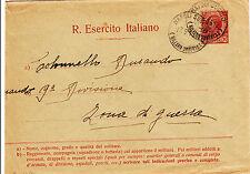 REGIO ESERCITO ITALIANO 10 cent-Busta Napoli succ.3- ZONA DI GUERRA 17.9.1915