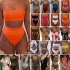 Womens High Waisted Sexy Bandage Bandeau Bikini Set Swimwear Swimsuit Monokini