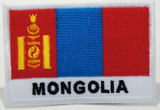 "MONGOLIA - FLAG EMBLEM PATCH SEW ON EASY TO USE 2""x3"""