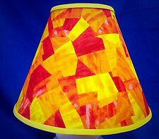 Orange Yellow Graphic Handmade Lamp Shade Lampshade