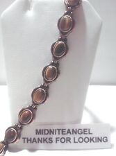 FAT TIGER EYE STONE COPPER MAGNETIC THERAPY LINKS BRACELET HEALING