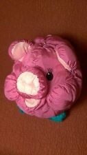 "10"" Commonwealth 1991 HOT PUFFS PIG pink nylon puffy stuffed animal toy"