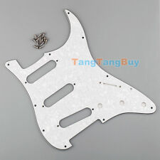 New Pearl White Pickguard Scratch Plate 3-Ply SSS For ST Strat Guitar