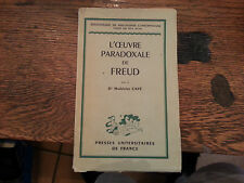 L'Oeuvre Paradoxale de Freud Cave Philosophy Psychology Psychiatry French 1948