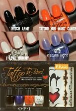 OPI Tatoo Ta-Boo!!!  Halloween mini set; 4 mini  Nail Polishes + free tatoo,BNIB