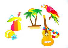 Hawaii Deko Set 4-Tlg. Partydeko Beachparty Strandparty Fest Party Feier Palme
