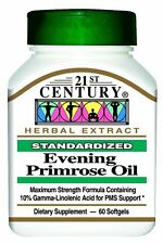 21st Century Evening Primrose Oil Capsules 60ct -FREE WORLDWIDE SHIPPING-
