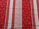 Red and White Quilting Fabric Fun Print, Fat Quarters, By the Yard 100% Cotton