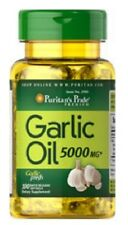 GARLIC OIL 5000mg HEART HEALTH DIETARY SUPPLEMENT 100 RAPID RELEASE SOFTGELS