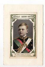 PORTUGAL famille royale et personnalités Le Prince héritier Chromo collé s/cart.