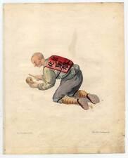 Bonze-Bettler-Priester-Almosen-China-Chinese Kupferstich Dadley 1800 Ethnologie