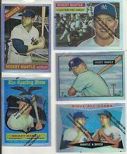 1997 Topps - MICKEY MANTLE - Finest Reprint Refractor #28 - 1960 Topps KEN BOYER