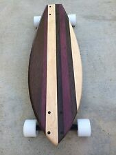 """Skateboard made of Solid Wood - """"Pismo"""" with purpleheart"""