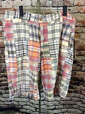 Tailor Vintage Mens Flat Front Madras Plaid Walking Shorts NWT