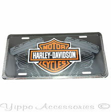 Harley Davidson with Engines Licensed Aluminum Metal License Plate Sign Tag NEW