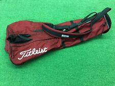 NICE Lightweight TITLEIST GOLF Red & Black SUNDAY BAG Carry Strap CLEAN Used