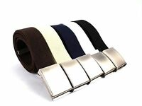 MENS LADIES CHILDS NEW PLAIN CANVAS WEBBING BELT WILL FIT 32 TO 52 INCH