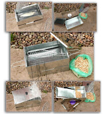 NEW FISH MEAT HOT SMOKER COOKER COMPLETE WITH FREE BRINE ,WOOD CHIPS & FUEL