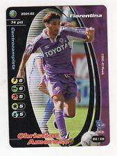figurina CARDS FOOTBALL CHAMPIONS 2001/02 PANINI FIORENTINA NUMERO 50 AMOROSO