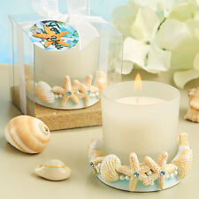 3 x Life's a Beach Collection Candle Favours - NEW - Starfish - Shells - Sand