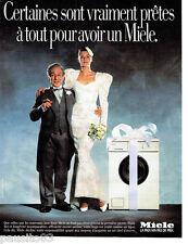 PUBLICITE ADVERTISING 056  1988  le lave linge Miele  machine à laver
