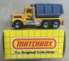 Matchbox 1-75 Lesney Superfast No.30 Peterbilt DIRTY DUMPER Quality Truck + BOX
