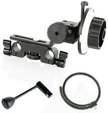 FILMCITY Follow Focus Gear Set for Nikon DSLR 5d 70d 600d Camera + Speed Crank