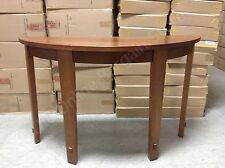 Pottery Barn Half moon foyer Henry wood entryway console hall accent table