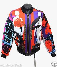 SOLS OUT!!! $3295 BRAND NEW VERSACE CUBA PRINT RED JACKET 50 - 40 - L