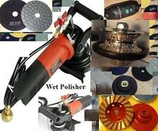 220V 240V Wet Polisher V40 Full Bullnose Router Bit Pad Cup Buff Granite Stone