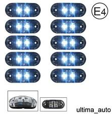 10 X 24V SMD 2 LED CLEAR SIDE REAR MARKER LIGHT TRUCK TRAILER LORRY E-MARKED DOT