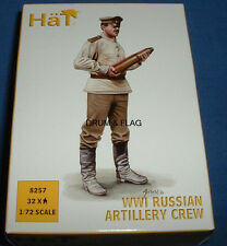 HAT 8257 WW1 RUSSIAN ARTILLERY CREW X 32 / 8 POSES 1/72 SCALE WWI RUSSIANS