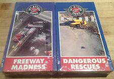 "Sky Action Video ""Dangerous Rescues"" & ""Freeway Madness"" VHS FACTORY-SEALED!"