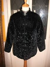 Ladies Gothic black flock velvet style jacket by No.1 Best Quality